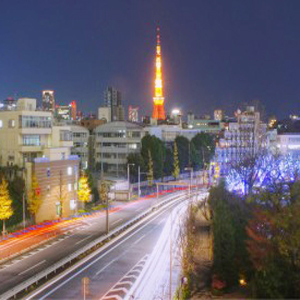 Tokyo Tower at Night-time