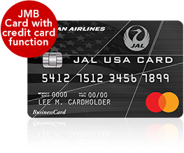 JMB Card with credit card function JAL USA CARD