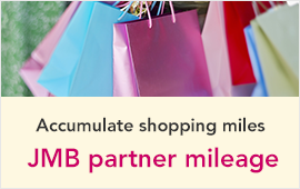 Accumulate shopping miles JMB partner mileage