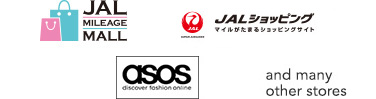 JAL MILEAGE MALL, JMB Shopping Mall, JAL Shopping, asos, and manyother stores