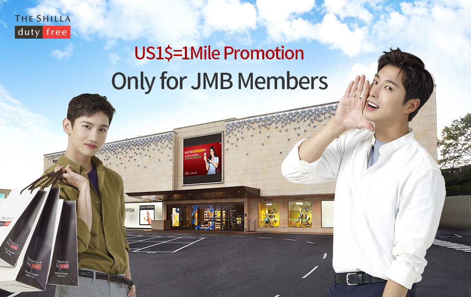 US 1$ = 1mile promotion only for JMB members