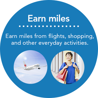 Earn miles Earn miles from flights, shopping, and other everyday activities.