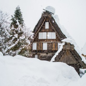 Winter Scene of Hida Folk Village