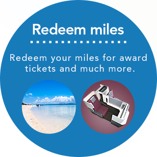 Redeem miles Redeem your miles for award tickets and much more.