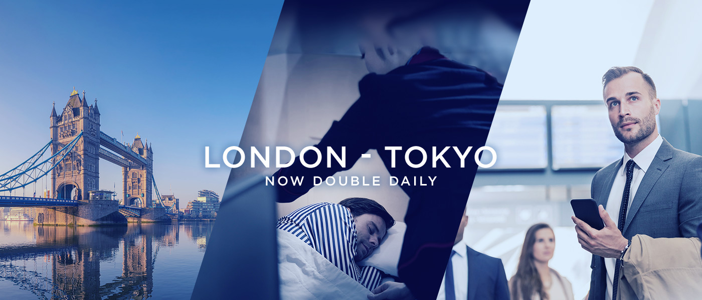 LONDON - TOKYO NOW DOUBLE DAILY