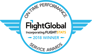 ON-TIME PERFORMANCE SERVICE AWARDS FlightGlobal Incorporating FLIGHTSTATS 2018 WINNER