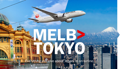 MELB>TOKYO Everything you love about Japan. in an airline.
