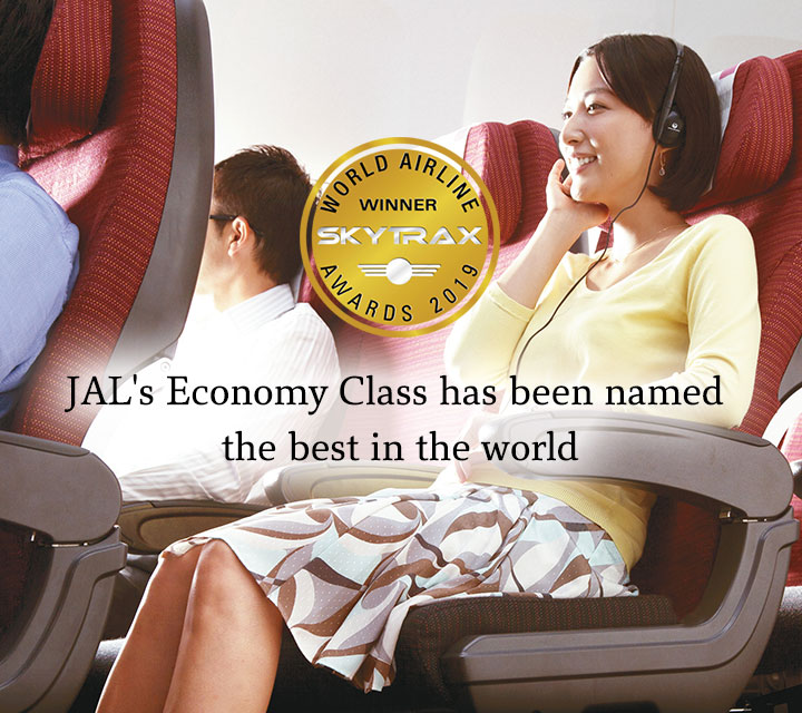 JAL's Economy Class has been named the best in the world