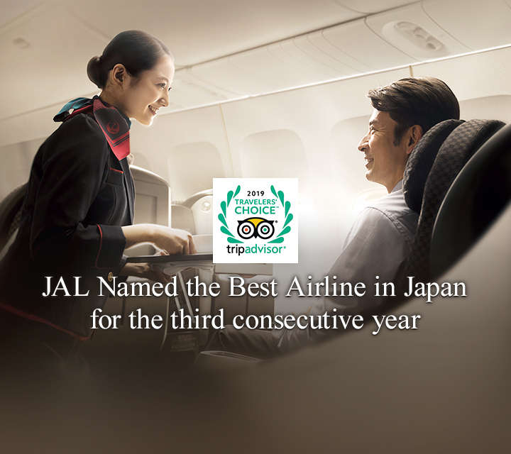 JAL Named the Best Airline in Japan for the third consecutive year